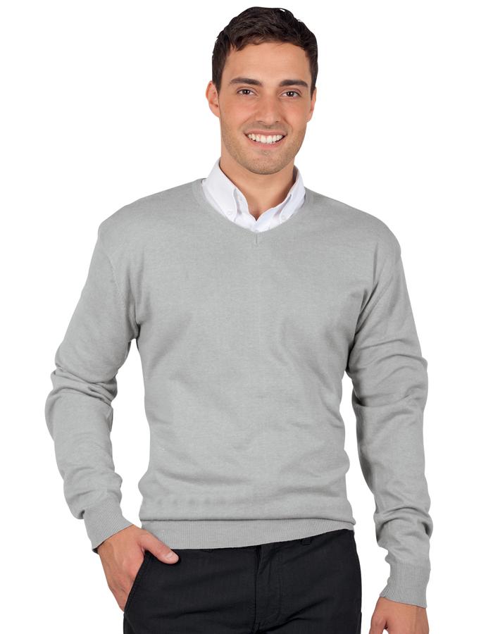 Image of Pánský svetr s výstřihem do quot;V quot; GALAXY MEN - Sol's
